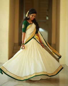 WhatsApp on 9496803123 to customise your bridal and party wear sarees and dresses Kerala Saree Blouse Designs, Wedding Saree Blouse Designs, Half Saree Designs, Lehenga Designs, Salwar Designs, Set Saree Kerala, Kerala Wedding Saree, Kerala Bride, Kerala Engagement Dress