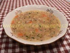 Masová polévka s rýží Cheeseburger Chowder, Cantaloupe, Soup, Fruit, Soups