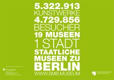 """Frage: """"@smbmuseum Welchen Umfang hat in etwa die komplette #Sammlung der Staatlichen Museen Berlin & wer hat da eine Übersicht drüber? #AskACurator""""    Antwort: """"@MuseumsHeld Laut Kampagne verfügen wir über 5.322.913 Kunstwerke. #askacurator pic.twitter.com/oBfI30ly"""" """"@MuseumsHeld Nebst dem Generaldirektor haben die Direktoren der einzelnen Museen natürlich eine Übersicht über ihre Sammlungen. #askacurator""""    Bildquelle: Twitter @smbmuseum"""