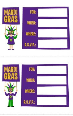 FREE Mardi Gras Printables from Love Party Printables