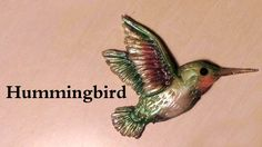 Polymer clay tutorial; Elegant Hummingbird Charm