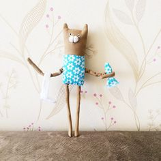 Cat with fish doll cat bookmarks cat doll summer Back by dodobob
