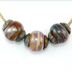 Jewels of Kashmir Lampwork Beads Rounds with by edenartglass