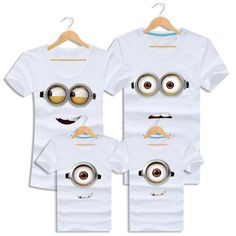 Minions Matching Mother Daughter Clothes 2016 Summer Short-sleeve Family Look Outfits Father Son T-shirt Cotton Couple Clothing♦️ SMS - F A S H I O N  http://www.sms.hr/products/minions-matching-mother-daughter-clothes-2016-summer-short-sleeve-family-look-outfits-father-son-t-shirt-cotton-couple-clothing/ US $5.79