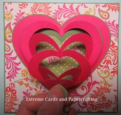 Pull Tab Valentine Pop Up Card -downloadable pattern, donation requested