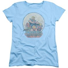 Womens Masters of the Universe/He Man and Crew Tee Shirt