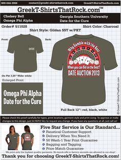 Omega Phi Alpha T-Shirts That ROCK! #omegaphialpha #ophia  Customize this design for your chapter. Just save the image, click it and upload it here... http://www.greekt-shirtsthatrock.com/custom-proof/