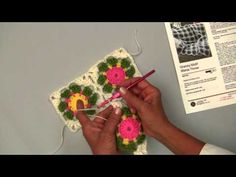 ▶ Learn To Join As You Go Granny Motifs with Red Heart Yarns - YouTube