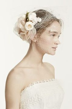 Wear this stunning silk flower veil for a beautiful yet modern look on your  special day! Can be worn as a bandeau veil or headband. Secure with bobby  pins. c2021c73d26