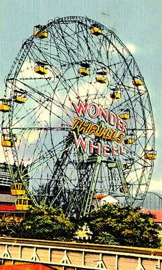 Coney Island - Independent Rides  The Wonder Wheel was unique because the cars slid from the inner wheel to the outer wheel and back. - 1930's