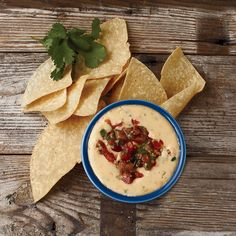 This best-ever classic queso recipe gets flavor from Velveeta and a freshly made pico de gallo. Get the recipe from Food & Wine.