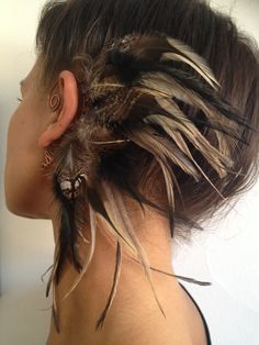 Natural feather ear cuff / feather cuff / feather earrings / burning man…