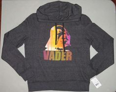 STAR WARS Hoodie NEW NWT Womens LARGE Sweatshirt Darth Vader Gray Sweat Shirt L #Disney #Hoodie BRAND NEW WITH TAGS womens STAR WARS hoodie, size LARGE. It is a long sleeved gray hooded sweatshirt that has Darth Vader graphics on the front #DarthVader #Vader