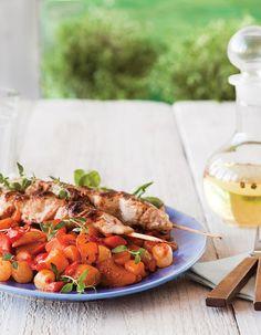 """Apetit-reseptit - Broilerivartaat ja Muurikka-kasvikset BBQ kesäjuhlan ruokalistalle! """"vieraillejajuhlaan #kasviksiagrilliin"""