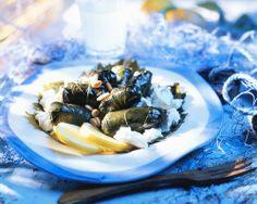 Dolmadakia with feta cheese (Greece)