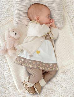 Conjunto com 3 peças, para bebé menina CRU