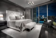 20 Beautiful Gray Master Bedroom Design Concepts | Pinkous