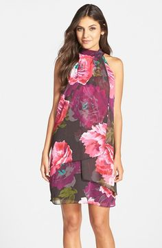 Maggy London Print Chiffon Trapeze Dress available at #Nordstrom