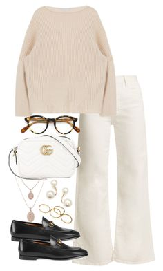 """""""Untitled #5183"""" by theeuropeancloset on Polyvore featuring Eve Denim, Oliver Peoples, Gucci and Zoë Chicco"""