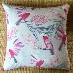 australian native cockatoo pin galah cushion cover