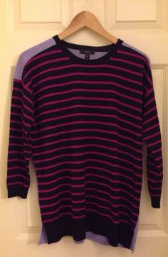 crew striped crewneck merino sweater m in clothing shoes