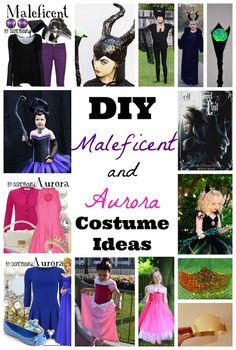 DIY Maleficent and Aurora Costume Ideas #DisneyInHomeEvent #SleepingBeauty