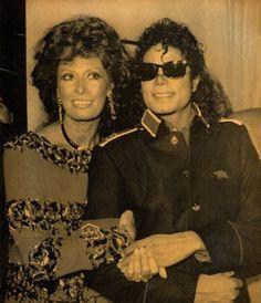 Sophia Loren and Michael Jackson