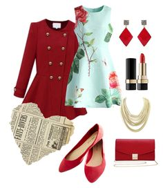 """red"" by bonitaquiroga ❤ liked on Polyvore featuring Wet Seal, M&Co, Chicwish, Kendra Scott, ADORNIA and Dolce&Gabbana"