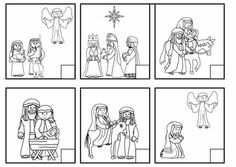 Werkblad tijdsbesef: Faith Filled Freebies - Nativity Story Sequencing Cards or Worksheet. A gift from Charlotte's Clips. Preschool Christmas, Christmas Nativity, Christmas Activities, A Christmas Story, Christmas Colors, Christmas Themes, Christmas Holidays, Christmas Crafts, Sequencing Cards