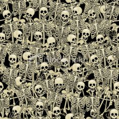 Skeletons..pattern for maybe a chair in the study ?