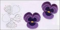 """Képtalálat a következőre: """"crochet flowers"""" Crochet Motifs, Crochet Flower Patterns, Crochet Chart, Knit Or Crochet, Irish Crochet, Crochet Stitches, Yarn Flowers, Knitted Flowers, Crochet Embellishments"""