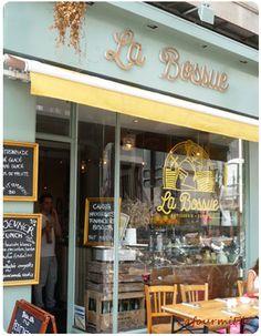 Jolie salon de thé @labossue #paris #pâtisserie #brunch