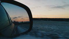 #car #sunset #mirror  https://www.instagram.com/helencrl125/