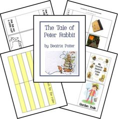 The Tale of Peter Rabbit Unit Study Lapbook Printables Peter Rabbit, Author Studies, Unit Studies, Five In A Row, Homeschool Curriculum, Homeschooling, Book Activities, Sequencing Activities, Animal Activities