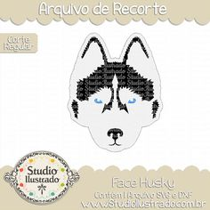 Face Husky, Dog Face Husky Siberian, Dog, Face, Husky, Siberian, cachorro, Husky Siberiano, Cachorro, cachorrinho, rosto, cara, cabeça, head, pet, pet love, animal, farm, fazenda,arquivo de recorte, corte regular, regular cut, svg, dxf, png,  Studio Ilustrado, Silhouette, cutting file, cutting, cricut, scan n cut.