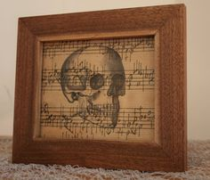 Walnut Frame with Skull Print by DevineEnergy on Etsy, $40.00