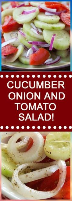 """Welcome again to """"Yummy Mommies"""" the home of meal receipts & list of dishes, Today i will guide you how to make """"CUCUMBER, ONION, AND TOMATO SALAD! I made this Delicious recipe a few days liver cleanse recipes Cucumber Recipes, Vegetable Recipes, Salad Recipes, Vegetarian Recipes, Onion Recipes, Juice Recipes, Muffin Recipes, Heart Healthy Recipes, Healthy Snacks"""