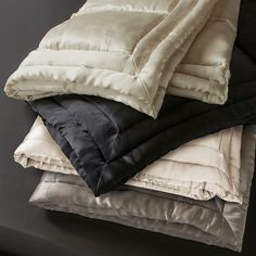 """Donna Karan Silk Quilt, Full/Queen 