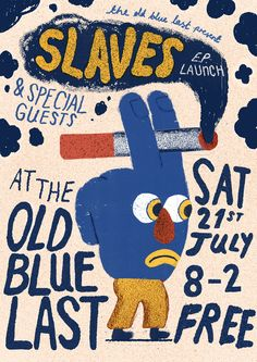 'Slaves' poster by artist and graphic designer Liam Barrett. Graphic Design Posters, Graphic Design Illustration, Graphic Design Inspiration, Typography Design, Illustration Art, Poster Designs, Art Design, Cover Design, Design Layouts