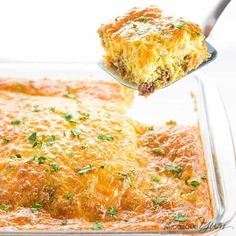 Breakfast Casserole with Sausage and Cheese