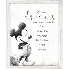 Product Image of Mickey Mouse Framed ''Dreams'' Wall Decor # 1
