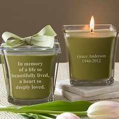 Can get a personalized candle and take a moment at the reception to light it and remember Tim's dad