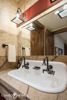 A Farmhouse Sink For This Bathroom In Park City Utah By Home Builder