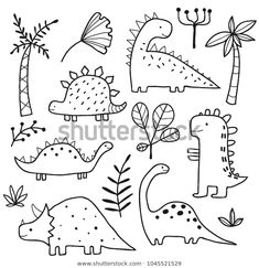 Simple Doodles, Cute Doodles, How To Doodles, Things To Doodle, Funny Doodles, Doodle Drawings, Easy Drawings, Doodle Illustrations, Funny Illustration