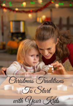 Creating great Christmas tradition ideas to enjoy with your kids will begin a lifelong love of the holiday season. By establishing some fun things your family will do every year, you give your kids something. Very Merry Christmas, All Things Christmas, Winter Christmas, Christmas Holidays, Christmas Lights, Xmas, Traditions To Start, Family Traditions, Christmas Traditions