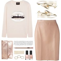 ... by yexyka on Polyvore featuring moda, Markus Lupfer, MSGM, Giuseppe Zanotti, Clare V., Wet Seal, Cara, Charlotte Tilbury and Bobbi Brown Cosmetics