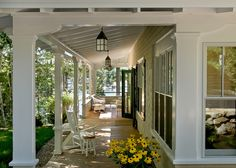 If you aren't sure what size of lantern is right for your porch, use the same rule of thumb as for picking an indoor chandelier: Add the length and width of the space. The number of feet in the sum is roughly the number of inches your fixture should be. For example, a 12-by-15 porch would hold a 27-inch lantern.