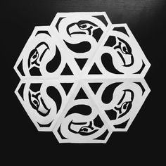 Seattle Seahawks Snowflake from Atelier Drome Architecture   http://www.atelierdrome.com/pages/snowflakes.html