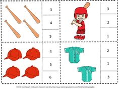With this baseball, basketball and football count and clip task card math center activity, students in Pre-K, K and Special Education will count the baseball, football and basketball objects and clip a clothes pin on the correct number. This low prep math activity will work well for students with autism.