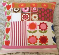 Vintage Scandinavian fabrics - Hotch Potch cushion by Jodi Jo Retro